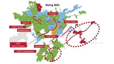 Paving plan map - April 2021