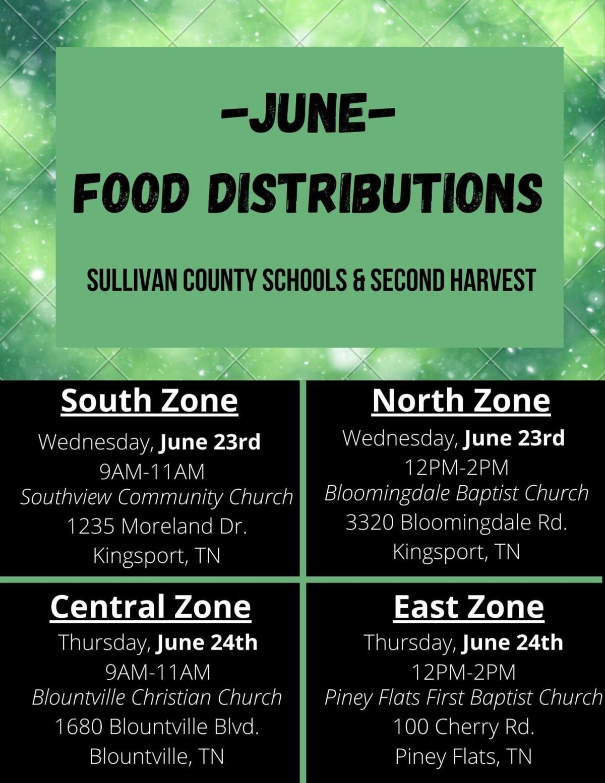 Sullivan County June 2021 food distribution