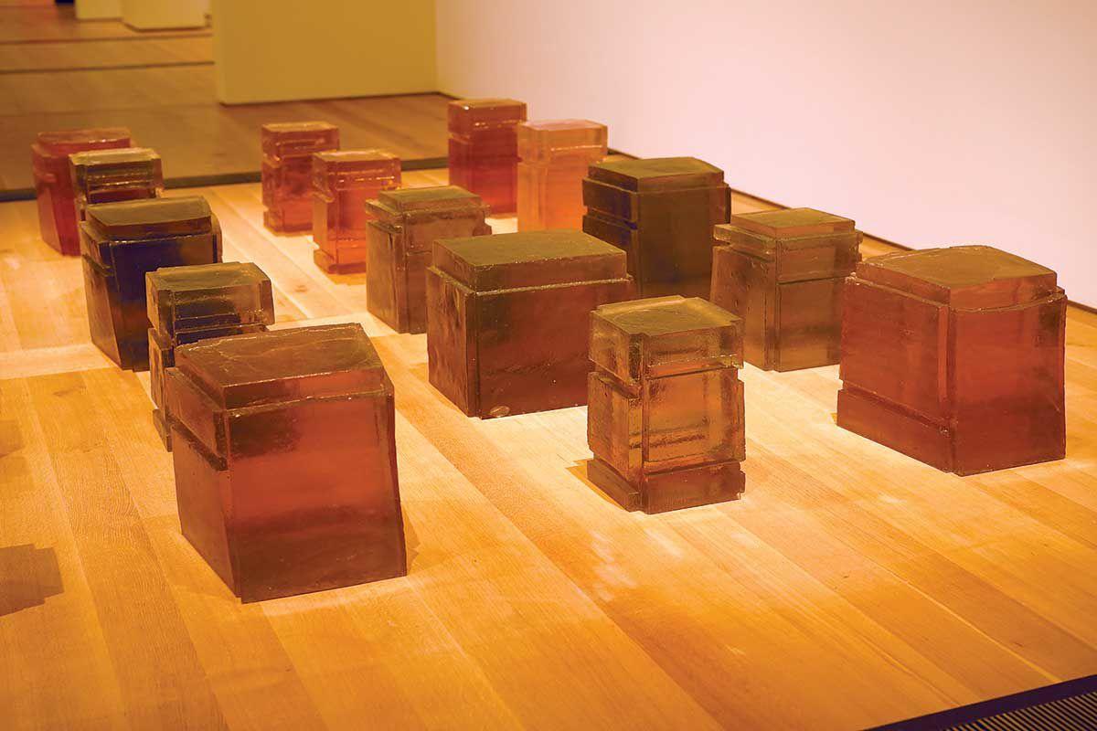"Rachel Whiteread's ""Untitled Twenty-Five Spaces."""