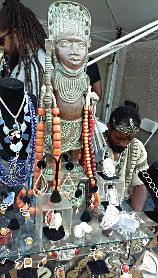 African Arts Festival vendor