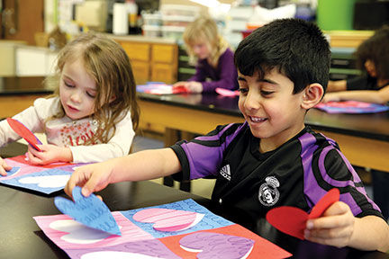 Valentine's Art Project At Mesnier Primary