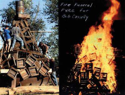 Bill Christman's Bob Cassilly bonfire