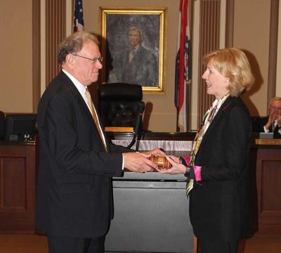 Clayton Mayors Harold Sanger and Michelle Harris