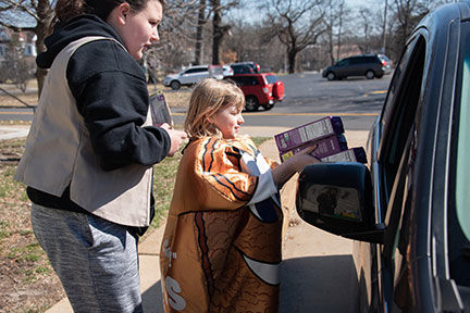 Girl Scout Cookie Drive Thru 1