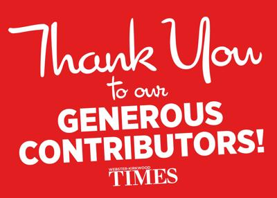 Thank you to readers for contributions