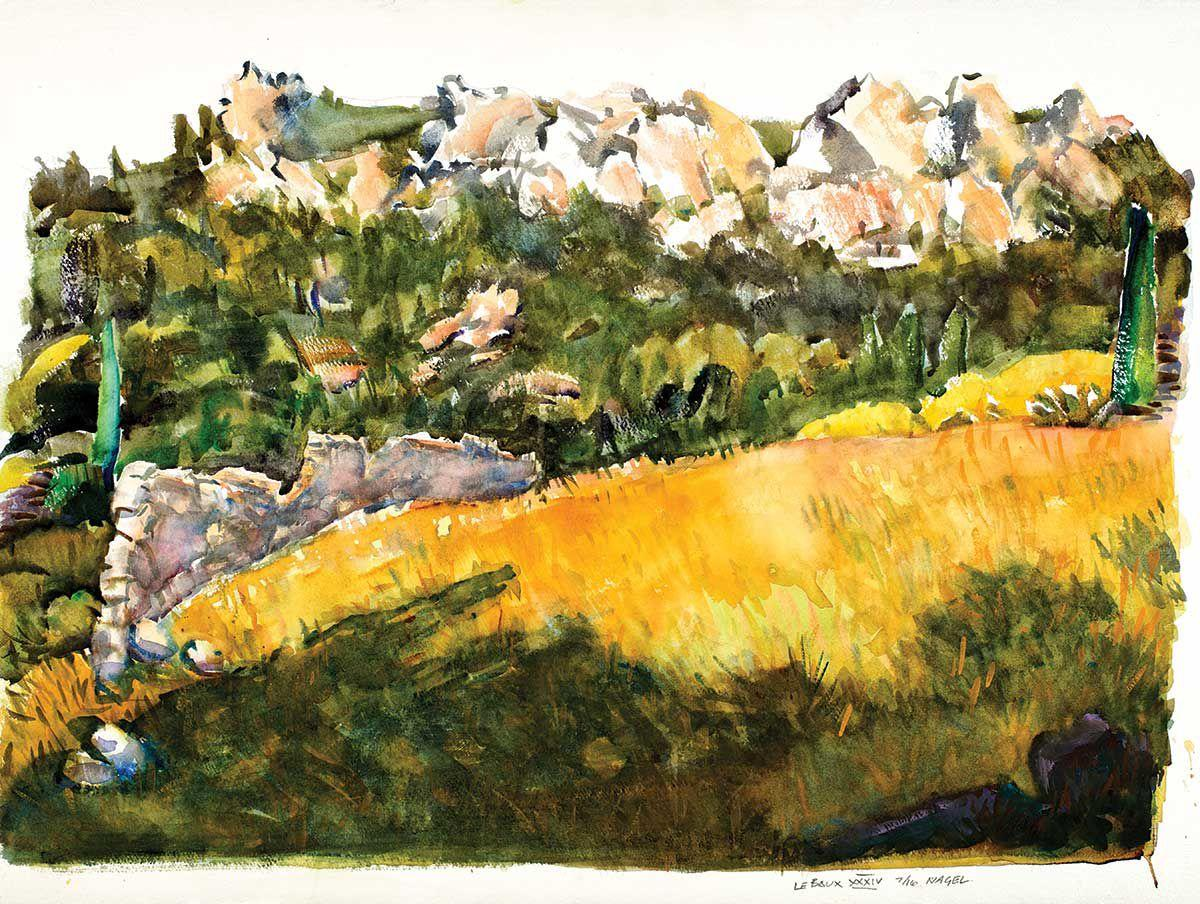 Ralph Nagel watercolor Les Baux XXXIV