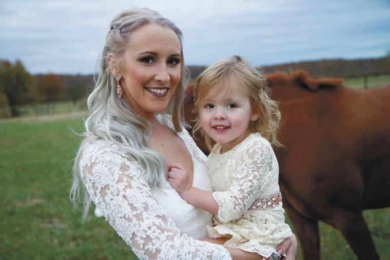 Bride and flowergirl daughter.jpg