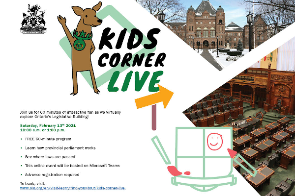 Kids Corner Live @ The Legislative Assembly of Ontario