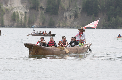 The Colville Tribes' canoe was the first to land, June 22, before the Kettle Falls 2019 First Salmon Ceremony.