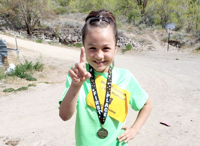 Mini Bloomsday Elite champion Elliyana Trevino