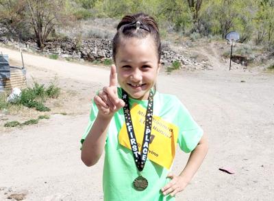 Mini Bloomsday Elite champion Elliyana Trevino