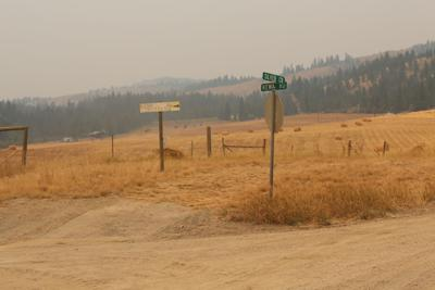 The intersection of Kewa Road and Silver Creek Road in the Inchelium District