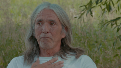 Tribal member Robert Watt during a recent filmed interview.