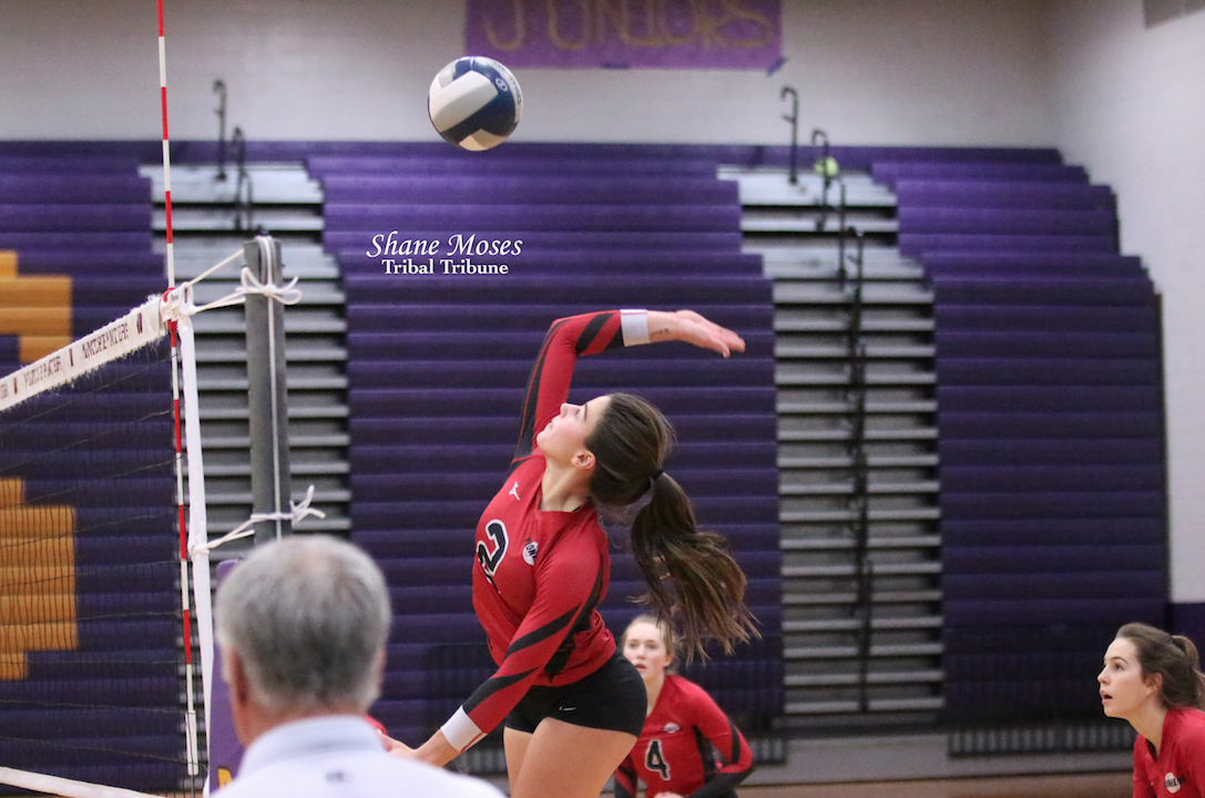 Scenes from the Omak/Cascade volleyball match as both schools clashed in the Caribou Trail League District Volleyball Tournament, Nov. 9 in Wenatchee