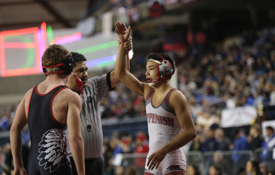 Colville tribal member Kyler Romero won first in the 2A 126-pound bracket in 2018.