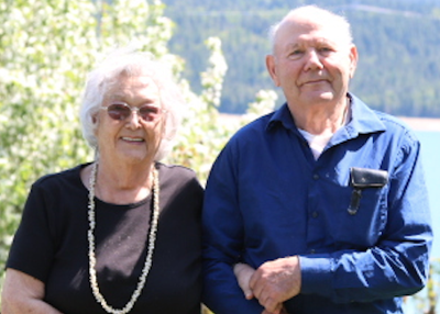 Dorothy Crabbe and her husband Robert near their home near Edgewood, B.C.
