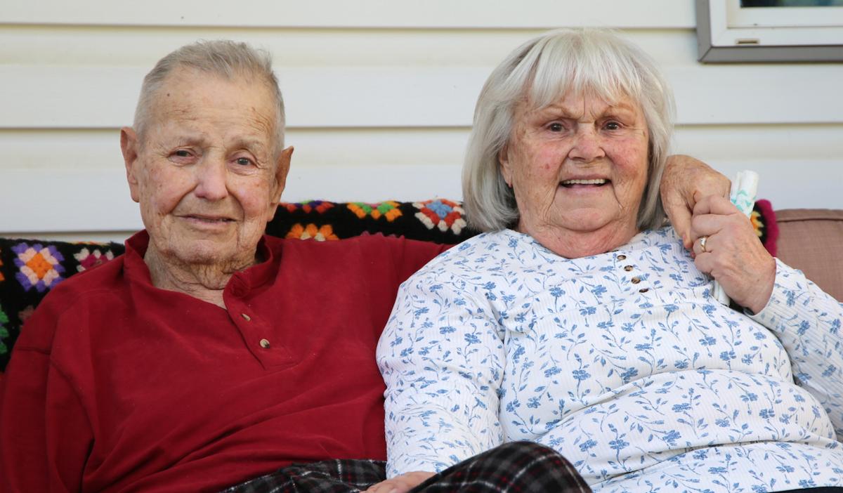 Tribal elder Marlow Johnston and wife Barbara