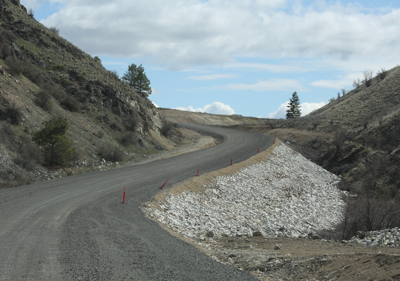 The Buffalo Lake Road Improvement Project will resume today.