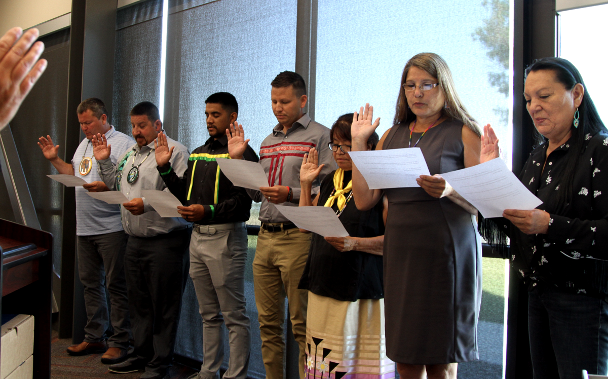 Colville Tribes hosts CBC Oath of Office