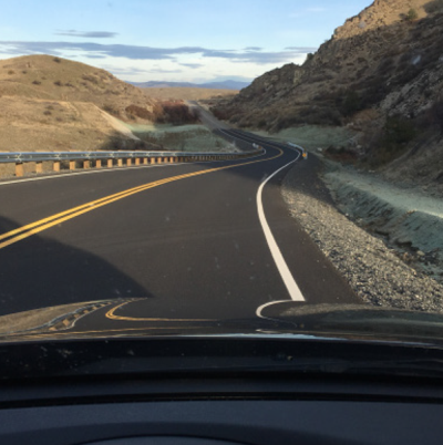 The new construction on the Colville Reservation's Buffalo Lake Road near Nespelem.