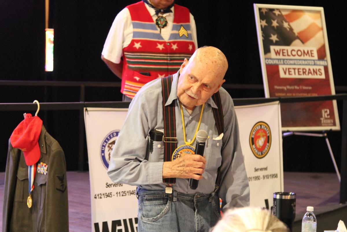 Colville tribal elder William 'Bud' Clark.