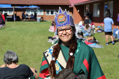 Miss Colville Confederated Tribes Miah Bearcub at the Colville Tribal Convalescent Center Powwow in 2019.