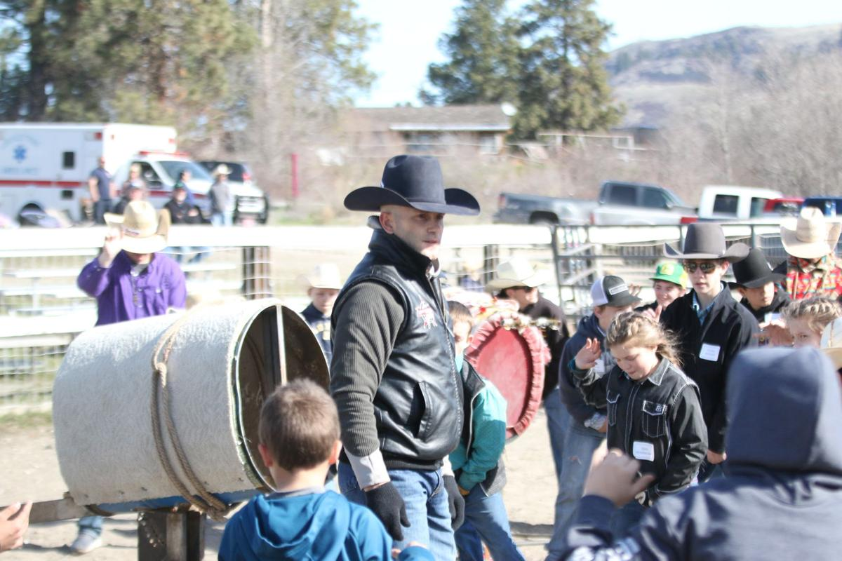 PRCA world champion Shane Proctor teaches technique at his annual bull riding school in Nespelem, Tuesday (April 2)