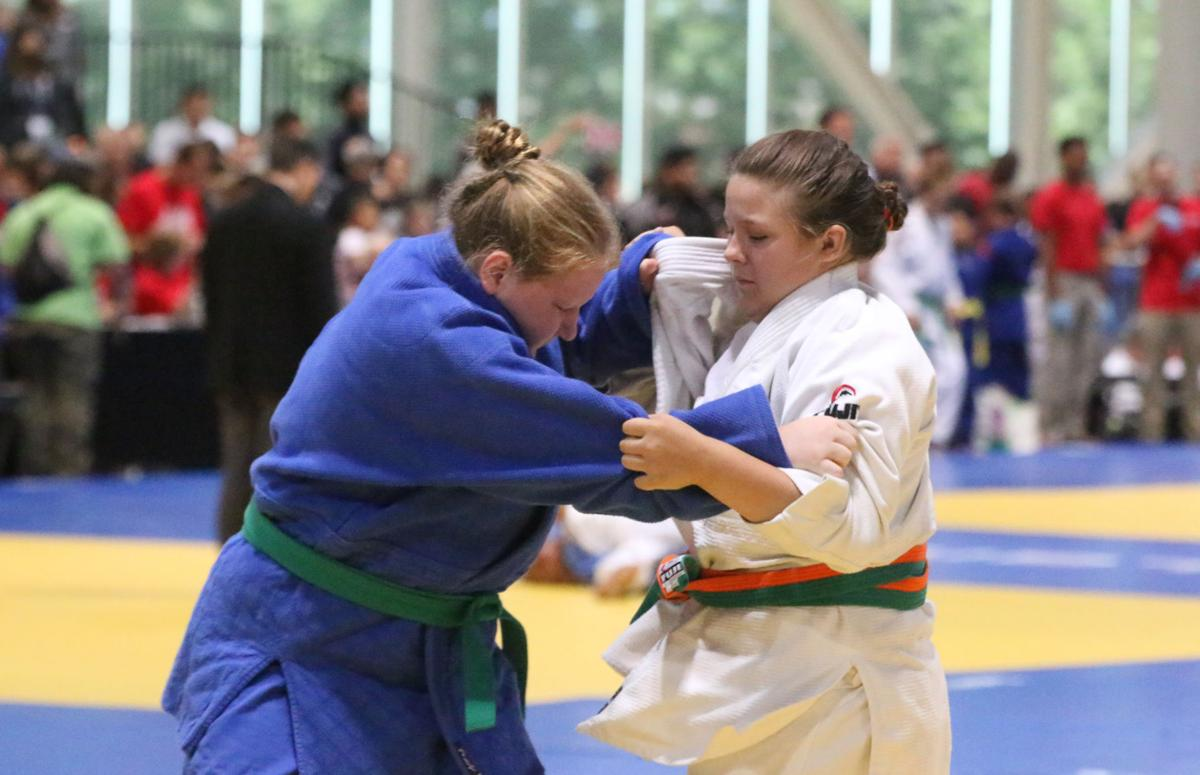 Colville tribal member Cheyanne Hunter competes at this year's Judo Junior Olympic National and International Championships held at the Spokane Convention Center June 22-24