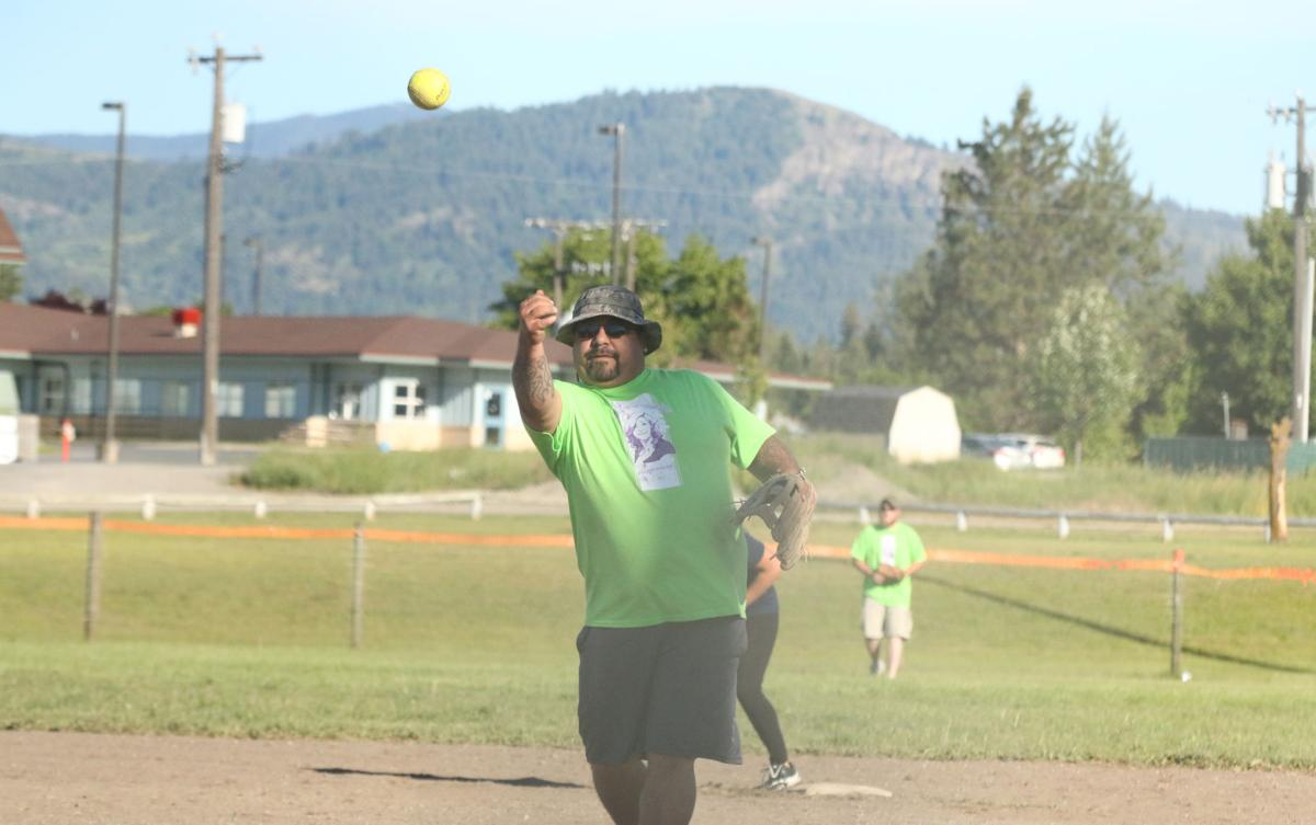 Action shots from the 22nd annual Last Name Softball Tournament in Inchelium, Wash. Held during the weekend of June 15-17, the tournament is held throughout three fields in Inchelium.