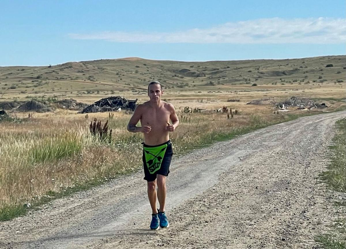 Colville tribal member Tony Louie competes in this year's Ultimate Warrior Challenge (June 27) out on the Crow Nation in Montana this past summer
