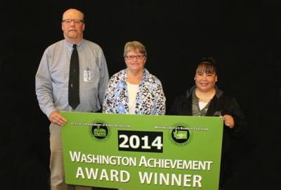 Steve Gaub, Joanne Turner and Sharon Lowery Received the 2014 Washington Achievement Award in Spokane Washington