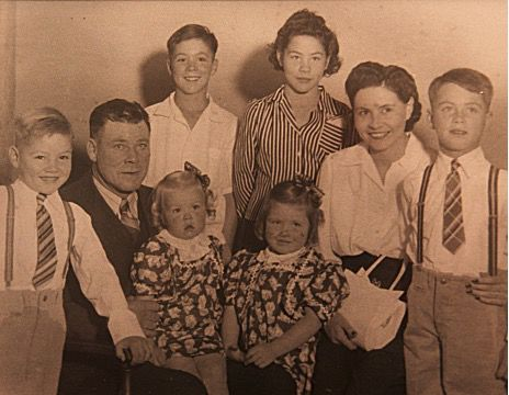 The Hahn family in the 1930s, with Lucetta being held by her father.