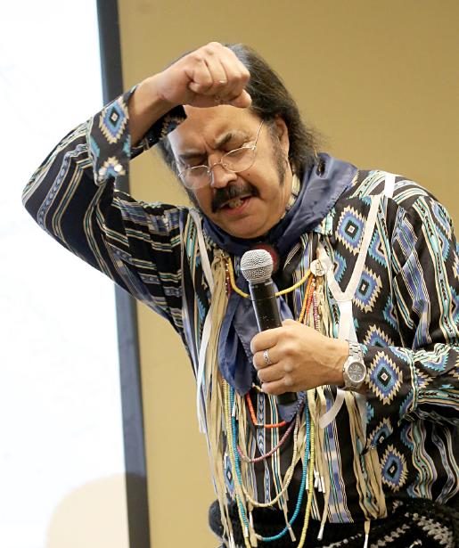 Ken Edwards shares stories at Second Bigfoot Roundup