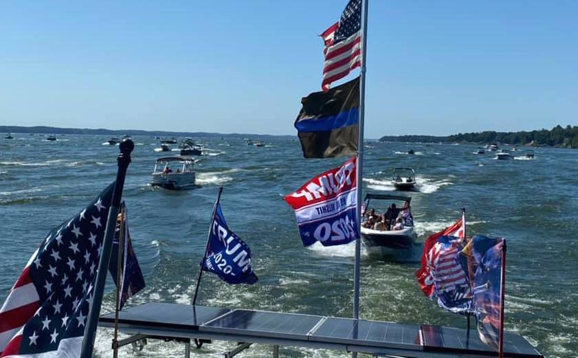 Trump supporters take to sea, land and air for Labor Day weekend - photo1