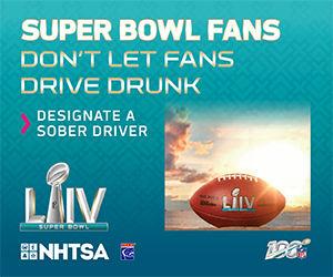 Super Bowl LIV: Fans don't let fans drive drunk image