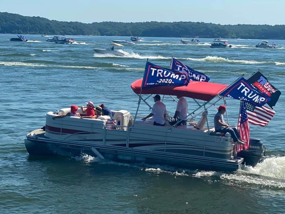 Trump supporters take to sea, land and air for Labor Day weekend-photo2