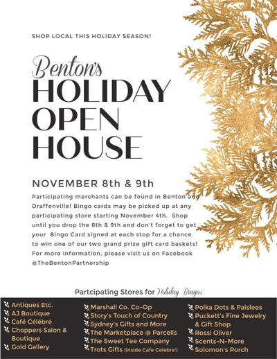 Benton's Holiday Open House this weekend