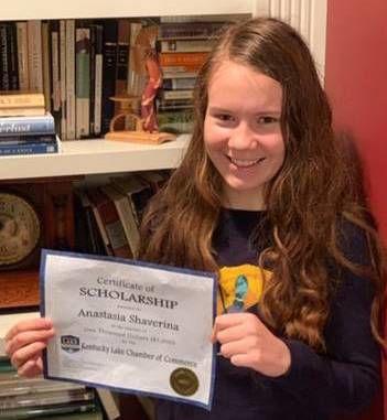 Anastasia Shaverina selected for Kentucky Lake Chamber scholarship award