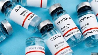 COVID-19 vaccine vials bottles