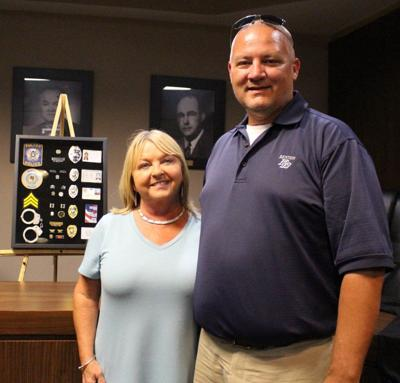 Former Benton Police Chief service celebrated