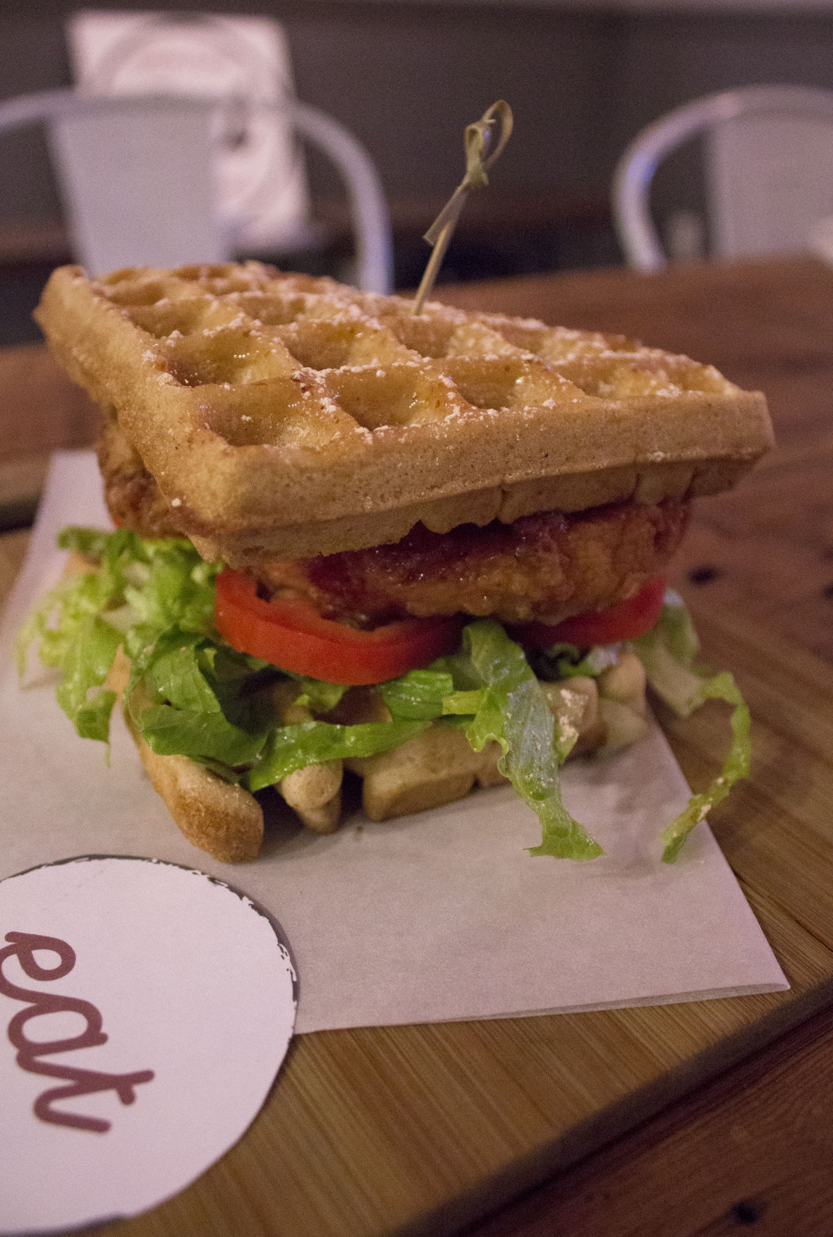 Eat chicken and waffles