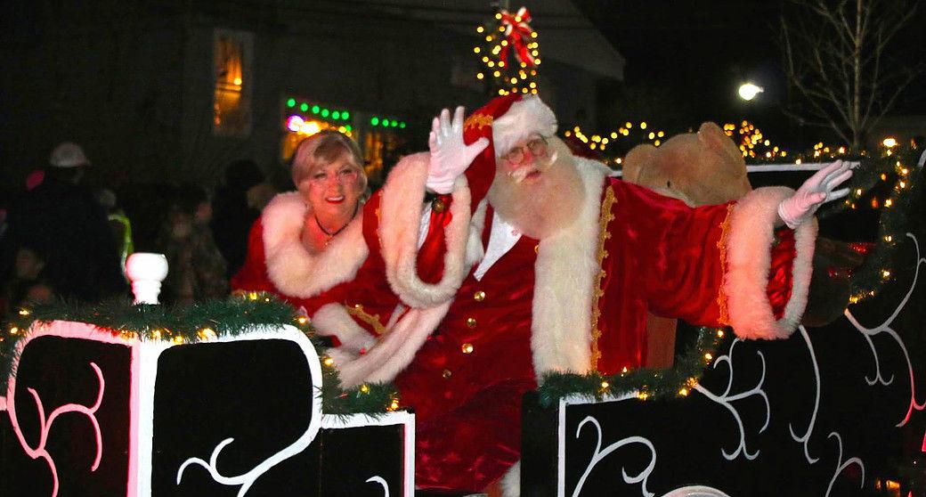 Santa Tim and Mrs. Claus
