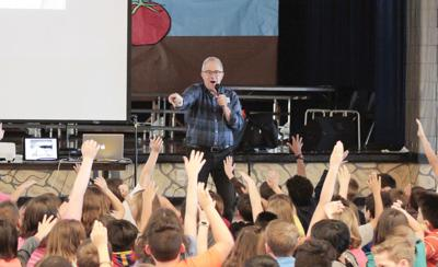 Author visits elementary schools