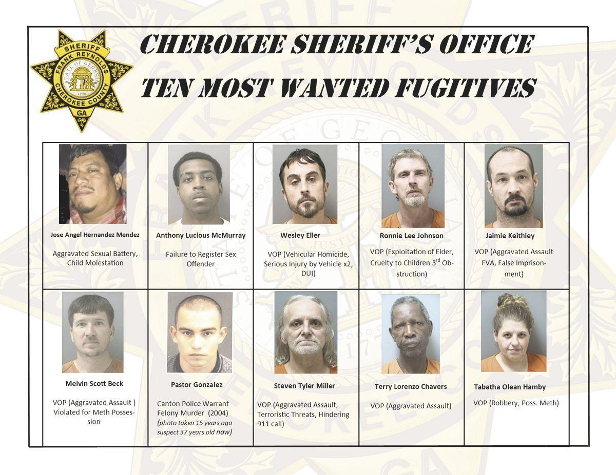 Sheriff's office creates 'most wanted' list | Cherokee