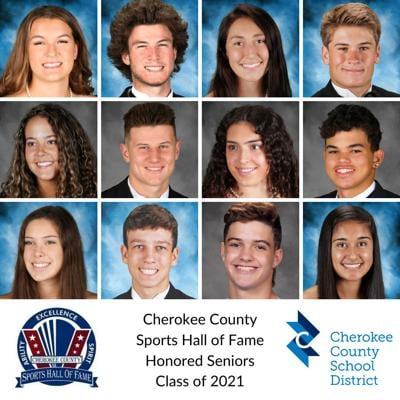 Cherokee County Sports Hall of Fame Honored Seniors Class of 2021