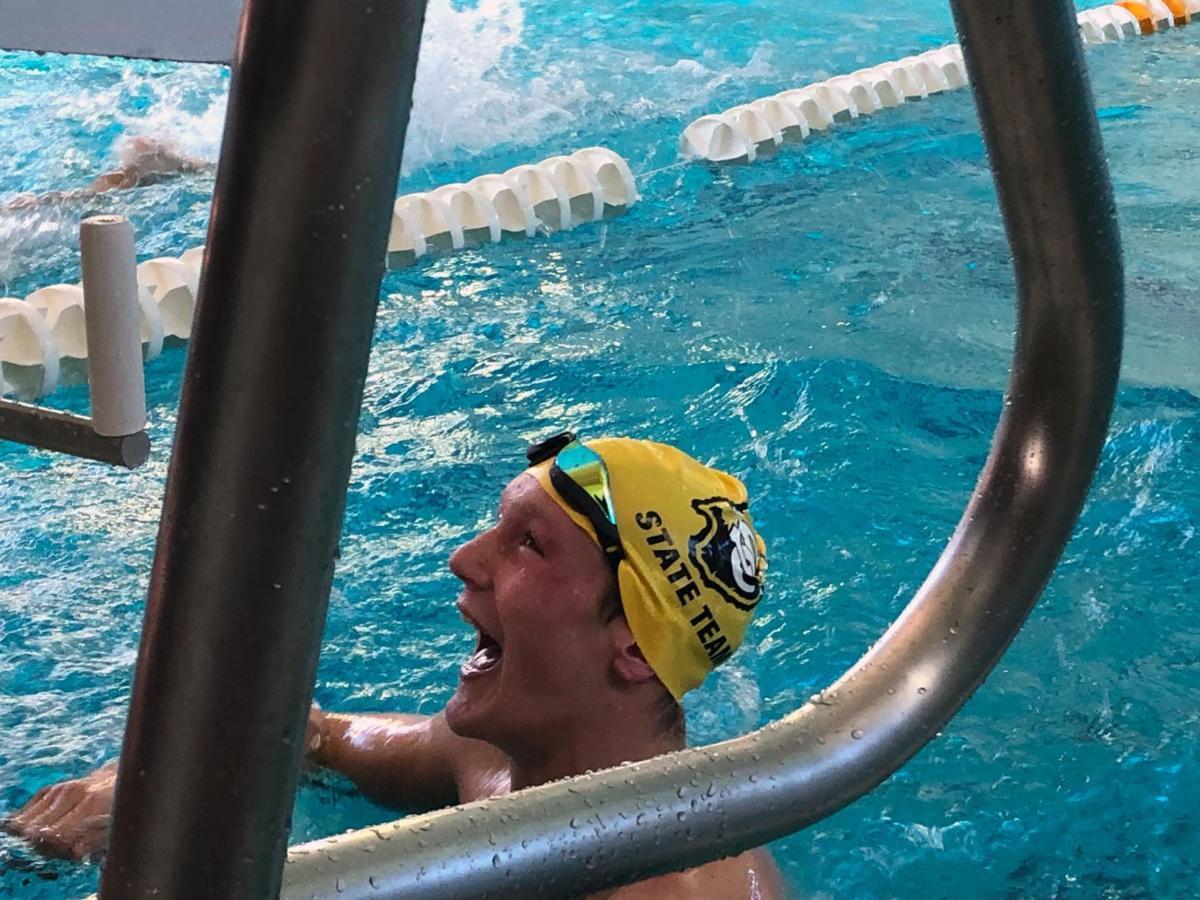Davis in pool