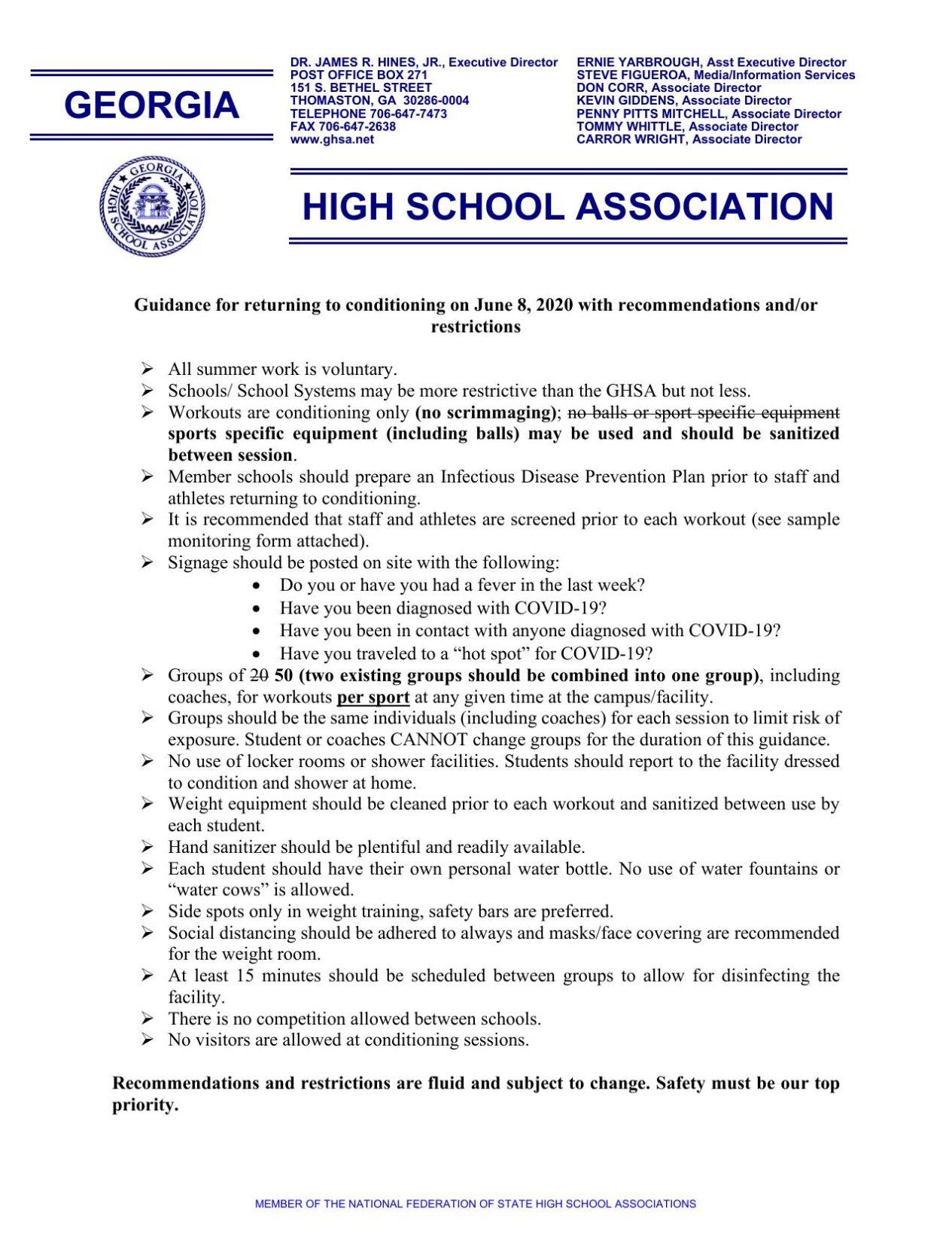 GHSA Guidance