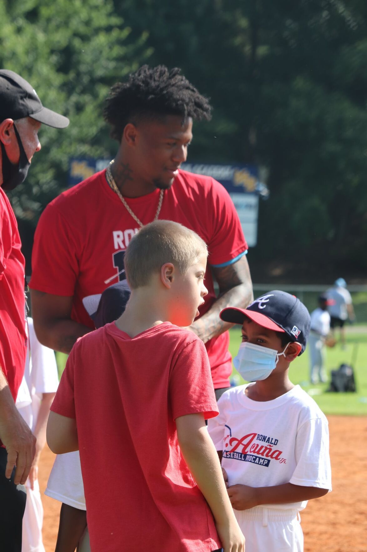 Acuna with young players