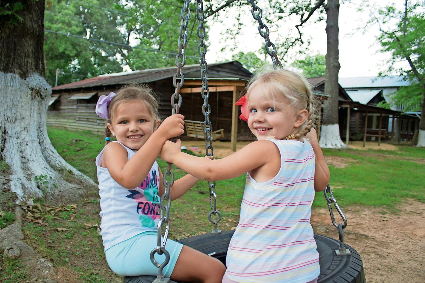 Holbrook camp meeting tire swing