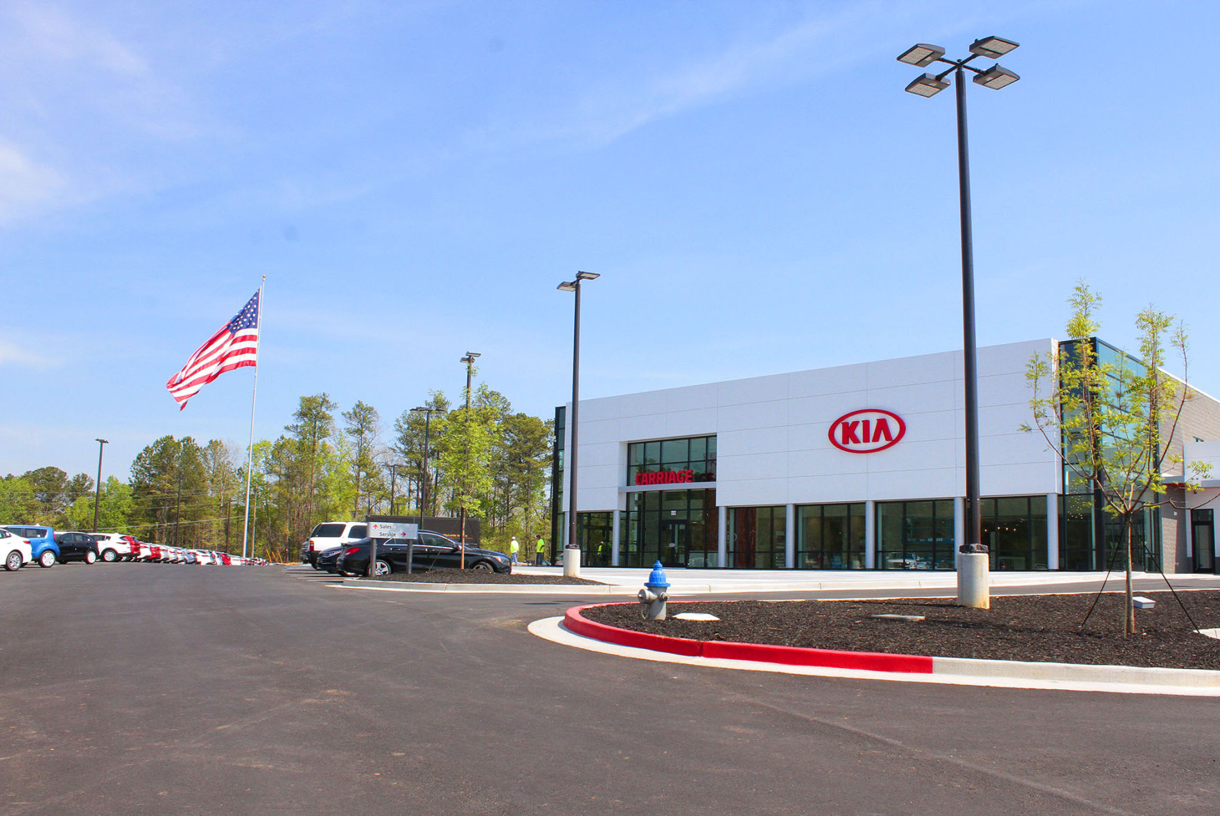The New Carriage Kia Dealership Just Off I 575 Is Now Open With Its  U0027state Of The Art Buildingu0027 In Woodstock.